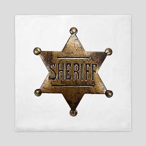 Sheriff Badge Queen Duvet