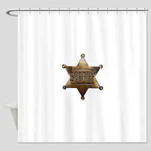 Sheriff Badge Shower Curtain
