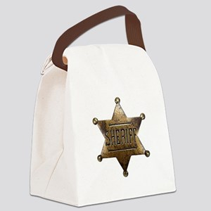 Sheriff Badge Canvas Lunch Bag