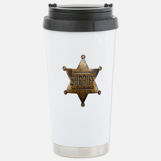 Sheriff Badge Travel Mug
