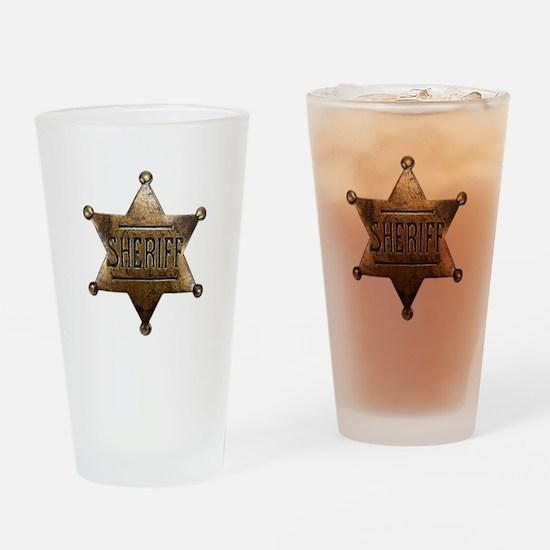 Sheriff Badge Drinking Glass