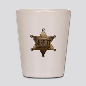 Sheriff Badge Shot Glass