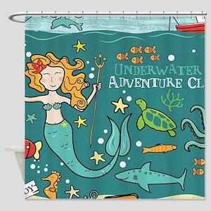 Mermaid Underwater Shower Curtain
