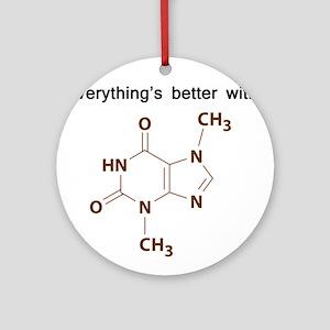 Chocolate Chemistry Ornament (Round)