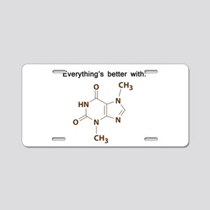 Chocolate Chemistry Aluminum License Plate