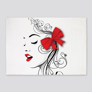 Red Lips 5'x7'Area Rug