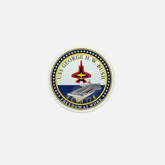 Uss George H. W. Bush Cvn-77 Mini Button