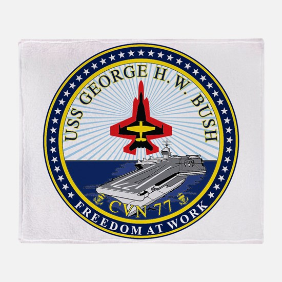 Uss George H. W. Bush Cvn-77 Throw Blanket