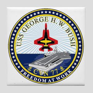 Uss George H. W. Bush Cvn-77 Tile Coaster