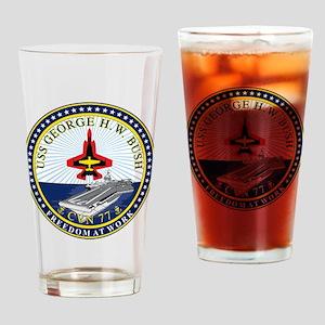 USS George H. W. Bush CVN-77 Drinking Glass