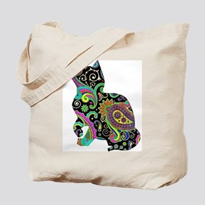 Paisley cat and butterfly Tote Bag