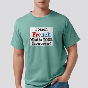 teach french Mens Comfort Colors Shirt