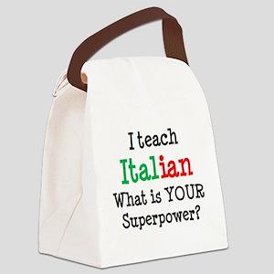 teach italian Canvas Lunch Bag