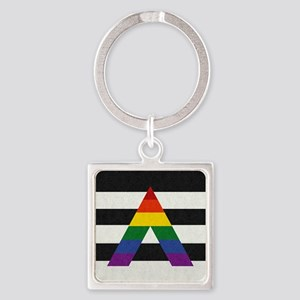 Ally Flag Square Keychain