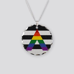 Ally Flag Necklace Circle Charm