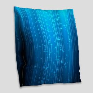 Magical Stars Burlap Throw Pillow