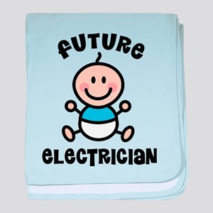 Future electrician baby blanket