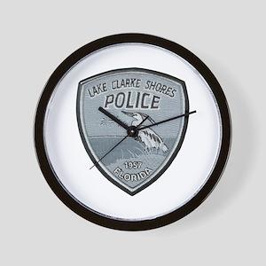 Lake Clarke Shores Police Wall Clock