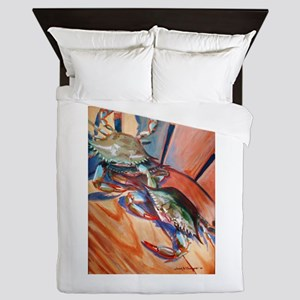 Maryland Blue Crabs Queen Duvet