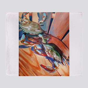 Maryland Blue Crabs Throw Blanket