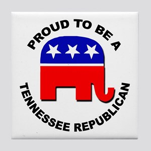 Proud Tennessee Republican Tile Coaster