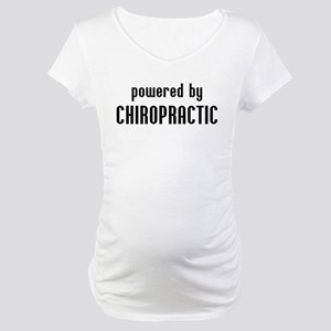 Powered By Chiro Maternity T-Shirt