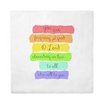 Psalm 86:5 Rainbow Stripe Verse Queen Duvet