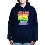 Psalm 86:5 Rainbow Stripe Verse Women's Hooded Swe