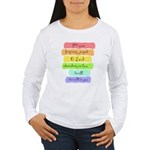 Psalm 86:5 Rainbow Stripe Verse Long Sleeve T-Shir