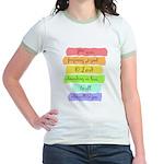 Psalm 86:5 Rainbow Stripe Verse T-Shirt
