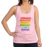 Psalm 86:5 Rainbow Stripe Verse Racerback Tank Top