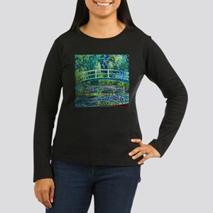 Monet - Water Lil Women's Long Sleeve Dark T-Shirt