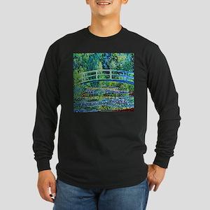 Monet - Water Lily Pond Long Sleeve Dark T-Shirt