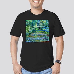 Monet - Water Lily Pon Men's Fitted T-Shirt (dark)