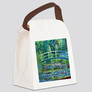 Monet - Water Lily Pond Canvas Lunch Bag