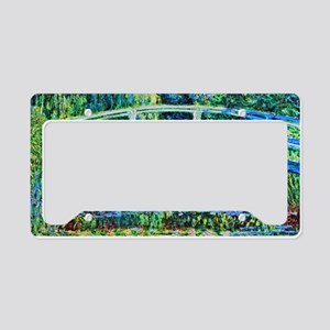 Monet - Water Lily Pond License Plate Holder