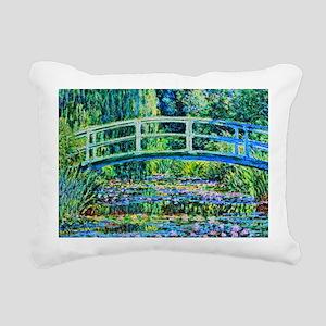 Monet - Water Lily Pond Rectangular Canvas Pillow