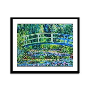 Monet - Water Lily Pond Framed Panel Print
