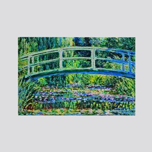 Monet - Water Lily Pond Rectangle Magnet