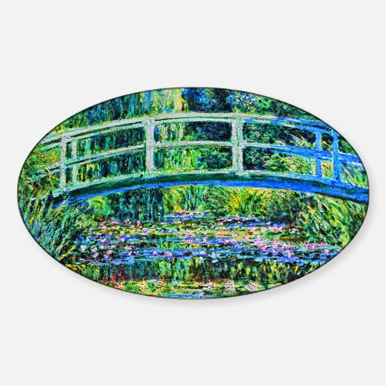 Monet - Water Lily Pond Sticker (Oval)