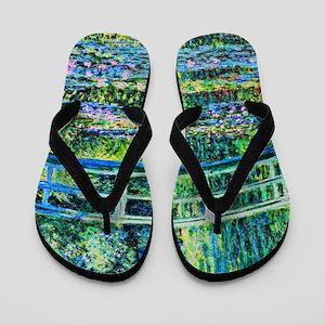 Monet - Water Lily Pond Flip Flops