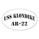 USS KLONDIKE Sticker (Oval)