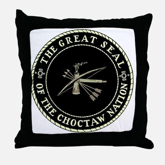 CHOCTAW SEAL Throw Pillow