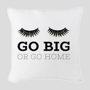Go Big Woven Throw Pillow