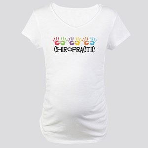 Chiropractic Hands Maternity T-Shirt