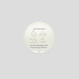 God Created DNA Mini Button