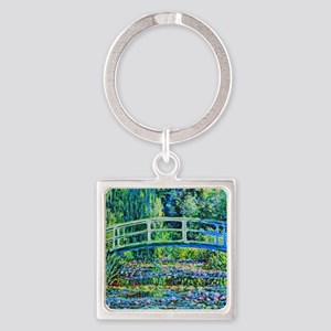Monet - Water Lily Pond Square Keychain
