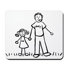 Father and Daughter Drawing Mousepad