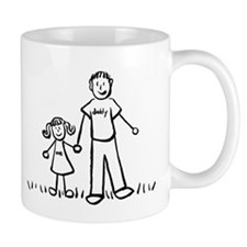 Father and Daughter Drawing Mugs