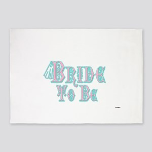 Bride To Be With Veil, Fancy Pink and Teal Type 5'